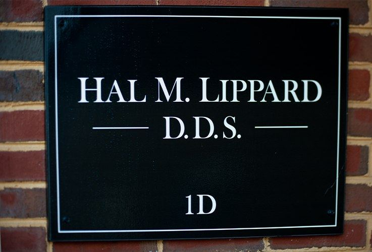 Hal M. Lippard, DDS office sign