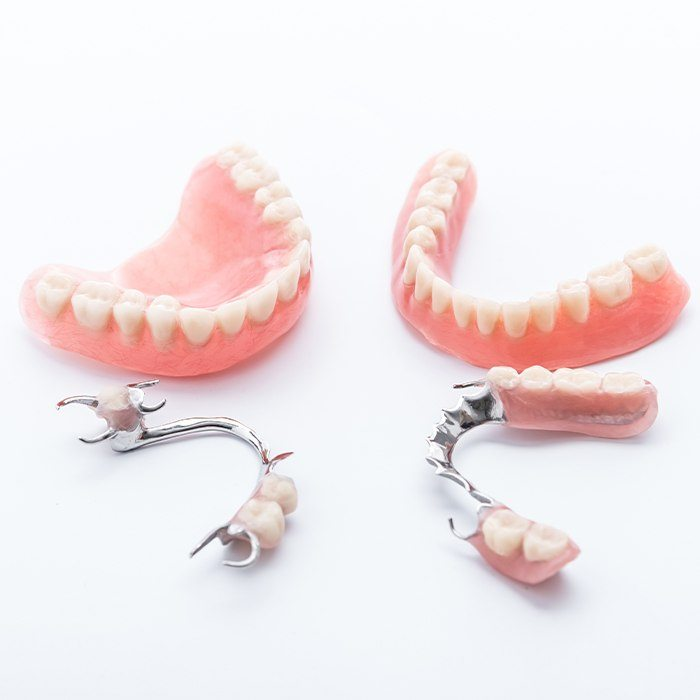 four examples of dentures