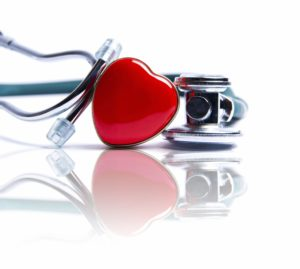 love heart next to stethoscope